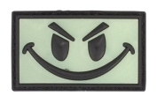 Smiley Face Glow In The Dark PVC Matrix hook and loop Morale Patch