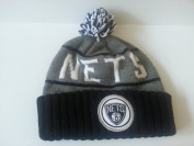 Mitchell and Ness NBA Brooklyn Nets Beanie Knit Hat; Patch