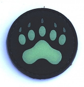 "Bear / Lion ""Claw"" Glow in the Dark PVC IFF hook and loop Patch"