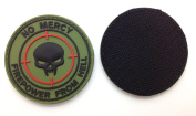 No Mercy Firepower From Hell PVC IFF hook and loop Morale Patch OD Green