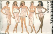 Butterick 5740 - Misses Petite Slip, Bias Camisole with Shaped Hemline, Panties, Bias Blouson Teddy & Fitted, Straight, Bias Half-slip with Princess Seams and Back Hemline Slit - Size 12, 14, 16