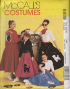 McCall's Sewing Pattern 8899 Misses' Poodle Skirt, Size XL