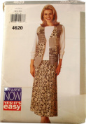 See & Sew by Butterick 4620 Sewing Pattern Misses Vest,Top and Skirt Size B L-XL