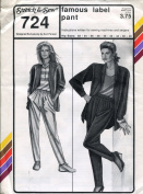 Stretch & Sew Pattern 724 ~ Ladies' Famous Label Pant ~ Hip 32-48