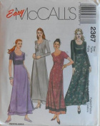 McCall's 2367 Women's Long A-Line Dress With Underskirt Size 16-18-20