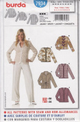 Burda Sewing Pattern 7934 for Misses' Jacket, Sizes 10 - 24