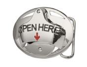 Open Here Bottle Opener Beer Cool Belt Buckle