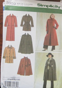 SIMPLICITY PATTERN 3959 MISSES'/MISS PETITE LINED COAT OR JACKET AND LINED CAPE IN TWO LENGTHS SIZE K5 8-16