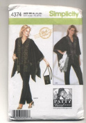 Simplicity Patty Reed Designs Everybody Knit Top, Pants, Jacket and Purse Sewing Pattern #4374