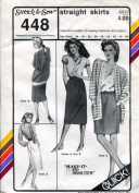 Stretch & Sew Pattern 448 ~ Straight Skirts