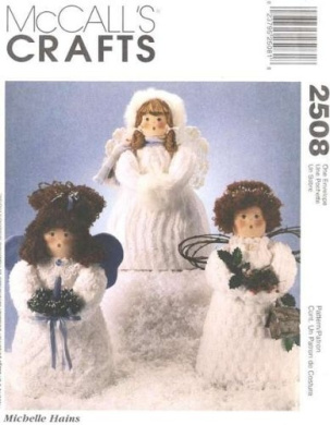 McCall's 2508 Christmas Craft Pattern Chenille Angels