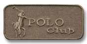 Exclusive Embroidered Motif 'Polo Club' grey, for ironing on
