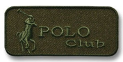 Exclusive Embroidered Motif 'Polo Club' olive-green, for ironing on