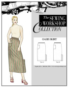 The Sewing Workshop Oasis Skirt Sewing Template, Multi-Size