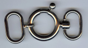 Necklace Latch Clasp in Nickel Finish