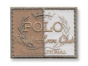 Exclusive Embroidered Motif 'Polo Royal Horse Club' beige, for ironing on