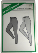 The Green Pepper F757 Sewing Pattern Misses Sportights or Capris Size Small,Medium,Large