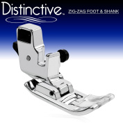 "Distinctive Zig Zag ""A"" or ""J"" Sewing Machine Presser Foot With Low Shank Adaptor- Fits All Low Shank Singer, Brother, Babylock, Euro-Pro, Janome, Kenmore, White, Juki, New Home, Simplicity, Elna and More!"