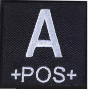 Matrix Square Military Blood Type Patch - A POS