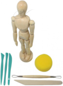 30cm Male Mannequin With Free Modelling Tools Bendable, Posable