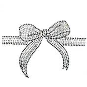 Rhinestone Transfer Hot Fix Motif Fashion Design Jewellery Gift Ribbon 3 Sheets 5.3*8.6cm
