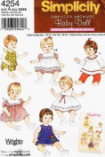 Simplicity 4254 Archive Pattern, Baby Doll Clothes, Three Sizes ~ Sewing Patterns