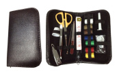 Sewing Kit and Manicure Set - Basic Essentials Kit & Mini Supplies for Beginners, Backpackers, Home, Outdoors, Arts & Crafts and Emergency in Travel Size PVC Leather Case - Best Gift for Kids, Girls, Women & Adults.