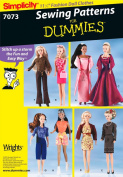 Simplicity 7073 Sewing for Dummies Doll Clothes Pattern