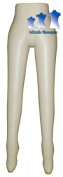Inflatable Mannequin, Female Leg Form, Ivory