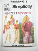 Simplicity 9518 Misses' 2 Hour Pants, Shirt, Shorts, Size BB 18/20, 22/24