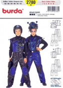 Burda 2780 Child's Costume Pattern, Astronaut, Space-rider, Size 7 to 12