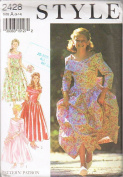 Flower Girl Bridesmaid Dresses Style 2428 Sewing Pattern Size A