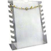 Frosted, Notched Bracelet or Necklace Display Rack