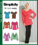 Simplicity 3682 - Knit Tops Made Easy Sewing Pattern - Size H5