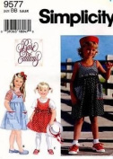 Simplicity Pattern 9577 Rare Editions Size AA 2,3,4