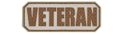 Veteran PVC hook and loop Morale Patch - Khaki / Light Brown