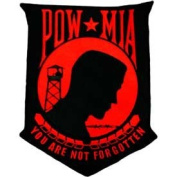 POW MIA Red/Black 30cm Patch