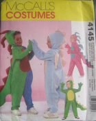 MCCALLS PATTERN 4145 Childrens Boy/Girl Dinosaur Costume SIZE 3-8 All In One Envelope