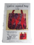 Embellishment Village Pattern Curve Appeal Bag Size Large