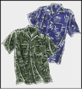 Men's Classic Hawaiian Aloha Shirt Sewing Pattern #220