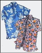 Mens Hawaiian Pullover or Button Front Placket Aloha Shirt Sewing Pattern #210