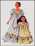 Child's Classic Hawaiian Muumuu Dress Sewing Pattern #104