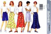 Butterick 4347 Sewing Pattern Womens Skirt Shorts Size 6 - 14 Waist 23 - 28