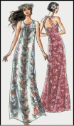 Hawaiian Muumuu Dress with Back Straps Sewing Pattern #309
