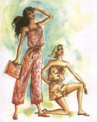 Hawaiian Pull-on Jumpsuit & Purse Sewing Pattern #312