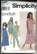Simplicity 2 Hour Sewing Pattern Number 8589 - Maternity Dress Or Top, Jumper and Pants or Shorts - Size P 12, 14, 16