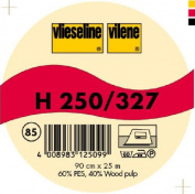 Vilene Iron-on nonwoven interfacing H 250 charcoal-coloured; width 35.10 inch/90cm, price per metre