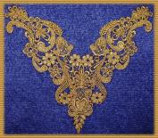 Beautiful Large Vintage Dusted Gold Metallic Venice/venise Lace Yoke Trim