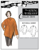 The Sewing Workshop Riviera Shirt Sewing Template, Multi-Size