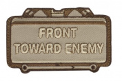 "Mil-Spec Monkey ""Front Toward Enemy hook and loop Patch - Desert Tan"